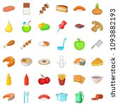 soup icons set. cartoon style... | Shutterstock . vector #1093882193