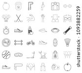 diet icons set. outline style... | Shutterstock . vector #1093882259