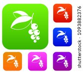 currant berries set icon color... | Shutterstock . vector #1093882376