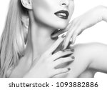 lips  teeth smile  neck  hand... | Shutterstock . vector #1093882886