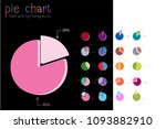 set of circle percentage flow... | Shutterstock .eps vector #1093882910