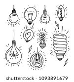 vector collection set hand... | Shutterstock .eps vector #1093891679