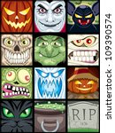 halloween avatars  set of 12...