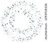 vector colorful round confetti... | Shutterstock .eps vector #1093918106