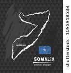 somalia map  vector pen drawing ... | Shutterstock .eps vector #1093918538