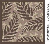 vintage floral silk scarf... | Shutterstock .eps vector #1093918739