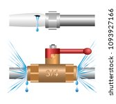 water leakage at the joints of...   Shutterstock .eps vector #1093927166
