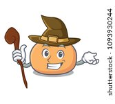 witch mochi mascot cartoon style | Shutterstock .eps vector #1093930244