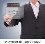 man entering safe code | Shutterstock . vector #109394000