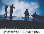 installing a solar cell on a... | Shutterstock . vector #1093941800