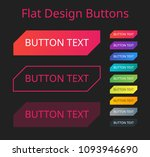 flat design button