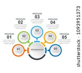 business infographic design... | Shutterstock .eps vector #1093951373
