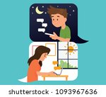 vector illustration couple boy... | Shutterstock .eps vector #1093967636