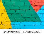 multi colored curved deformed... | Shutterstock . vector #1093976228