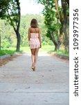 back view. portrait in full... | Shutterstock . vector #1093977356