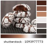 home baked peppermint and... | Shutterstock . vector #1093977773
