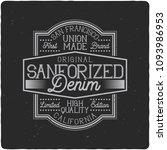 vintage label design with... | Shutterstock .eps vector #1093986953