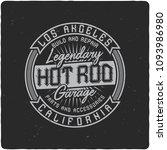 vintage label design with... | Shutterstock .eps vector #1093986980