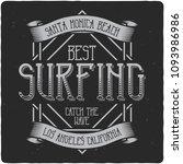vintage label design with... | Shutterstock .eps vector #1093986986