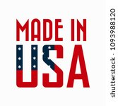 vector  made in usa  sign ... | Shutterstock .eps vector #1093988120