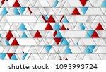 bright triangles geometric tech ... | Shutterstock . vector #1093993724