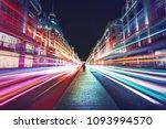 motion speed light in london... | Shutterstock . vector #1093994570