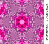 Pretty Pink Floral Mandala ...