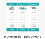 vector pricing table for...
