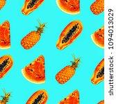 seamless tropical pattern.  mix ...   Shutterstock . vector #1094013029