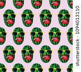 seamless fashion watermelon... | Shutterstock . vector #1094013110