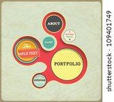 vintage web design template.... | Shutterstock .eps vector #109401749