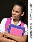 impatient female student | Shutterstock . vector #1094017880