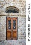 old vintage double door with... | Shutterstock . vector #1094027618