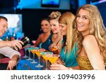 young people in club or bar... | Shutterstock . vector #109403996