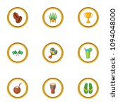 brazil country icons set....   Shutterstock . vector #1094048000