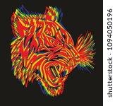 tattoo tiger graphic design... | Shutterstock .eps vector #1094050196