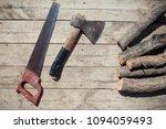 top view of woodmans set such... | Shutterstock . vector #1094059493