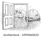 vector artistic pen and ink... | Shutterstock .eps vector #1094060423
