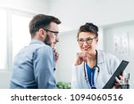 doctor and patient sitting in...   Shutterstock . vector #1094060516