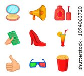 catering icons set. cartoon set ... | Shutterstock . vector #1094063720