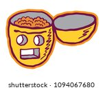 open head with brains and empty ... | Shutterstock .eps vector #1094067680