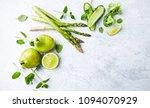 an arrangement of green... | Shutterstock . vector #1094070929