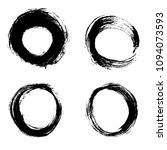 set black texture brush circle... | Shutterstock .eps vector #1094073593