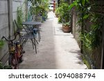 the entrance to the coffee shop ... | Shutterstock . vector #1094088794