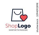 love and gift online shop... | Shutterstock .eps vector #1094092898