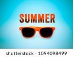 summer orange text message and... | Shutterstock . vector #1094098499