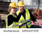 civil engineers  a man and a... | Shutterstock . vector #1094107559