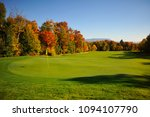 Maine Fall Foliage Golf Lake