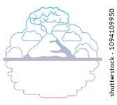 erupting volcano with landscape ...   Shutterstock .eps vector #1094109950