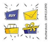 shopping online pop art set... | Shutterstock .eps vector #1094114390